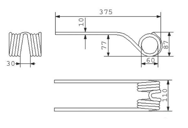 Tedder tines, tedder wheels and HayTool Parts